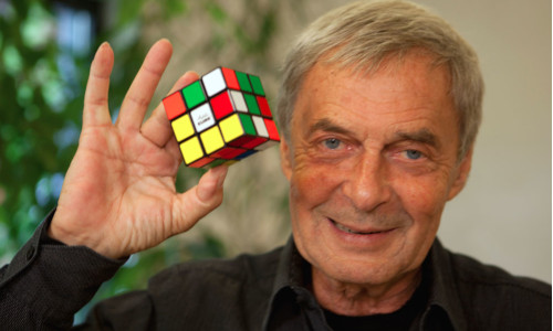 Erno Rubik, the creator of the Rubik's Cube puzzle